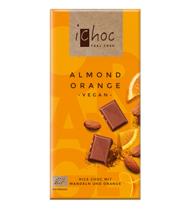 Ichoc Almond Orange Vegan  ØKO